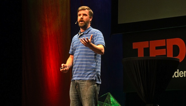 Charle Todd speaking at TED